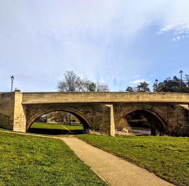 Rothbury Riverside Walk, Picnic Spots & Playground  - bridge over river coquet into town