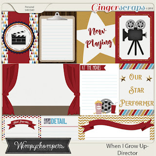 Creative Team, Annemarie, for GingerScraps -  When I Grow Up- Director by Wimpychompers Creations and A Year of Blessings August 2018 Challenge and Freebie Word Art