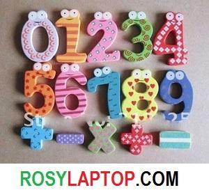 Mainan Edukatif Anak Angka Kayu Magnet