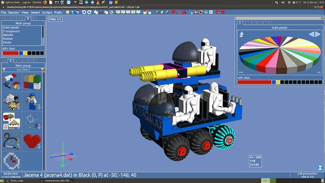 LDCAD mostrando Tente 3D