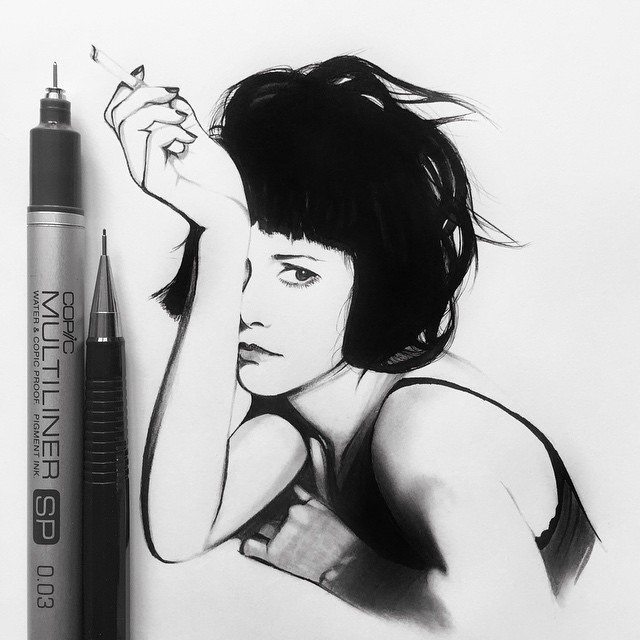 08-Jena-Malone-Johanna-Jackdevilart-Portraits-and-Full-Bodied-Miniature-Drawings-www-designstack-co