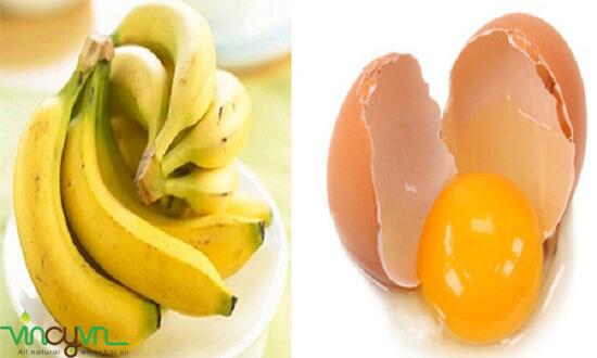 dưỡng trắng da bằng mặt nạ chuối trứng gà