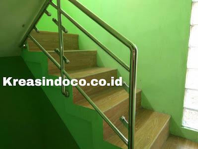 Railing Balkon Stainless Kombinasi Akrilik Pemasangan Jalan Dukuh Kramatjati Jakarta Timur