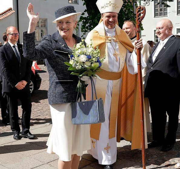 Queen Margrethe II attended celebration of the 800th anniversary of the establishment of the St. Mary's Cathedral in Tallinn