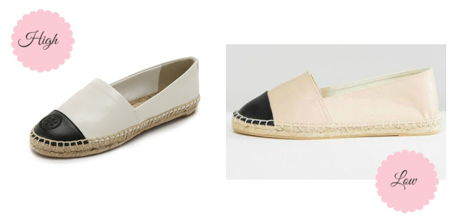 High vs. Low: Tory Burch Color Block Espadrilles - Ioanna's Notebook
