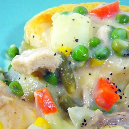 how to make easy chicken pot pie with biscuits