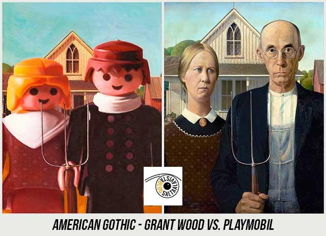 Cuadro-American-Gothic-de-Grant-Wood-Hecho-con-Playmobil