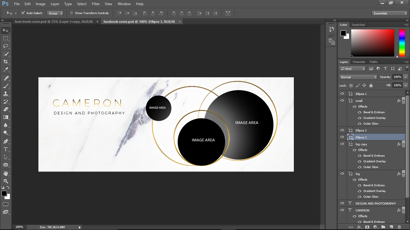 How To Designcreate Easy To Edit Photoshop Facebook Cover Templates