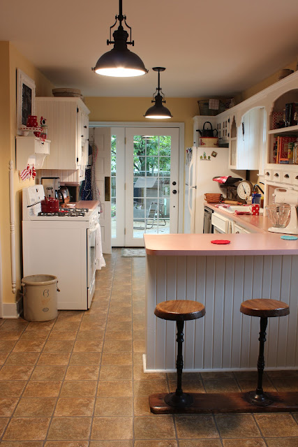 Catherine Holman Folk Art New Cottage Kitchen Light Fixtures