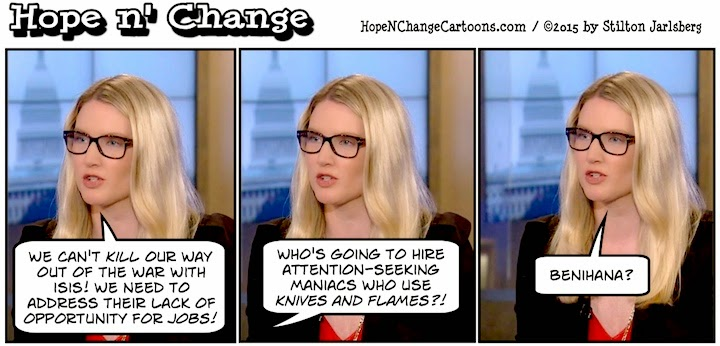 obama, obama jokes, political, humor, cartoon, conservative, hope n' change, hope and change, stilton jarlsberg, terror, ISIS, state department, harf