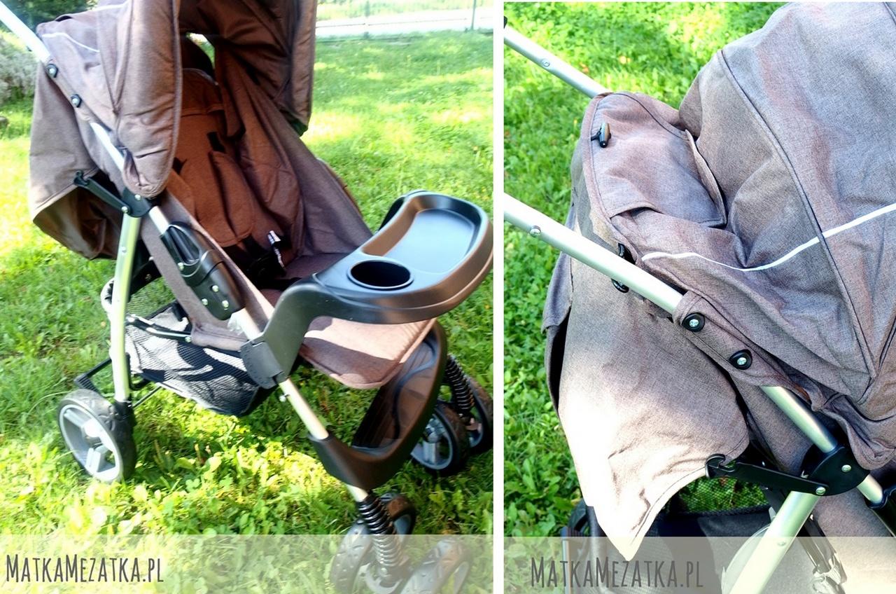 rozłożony wózek caretero monaco