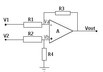 differential amplifier calculator