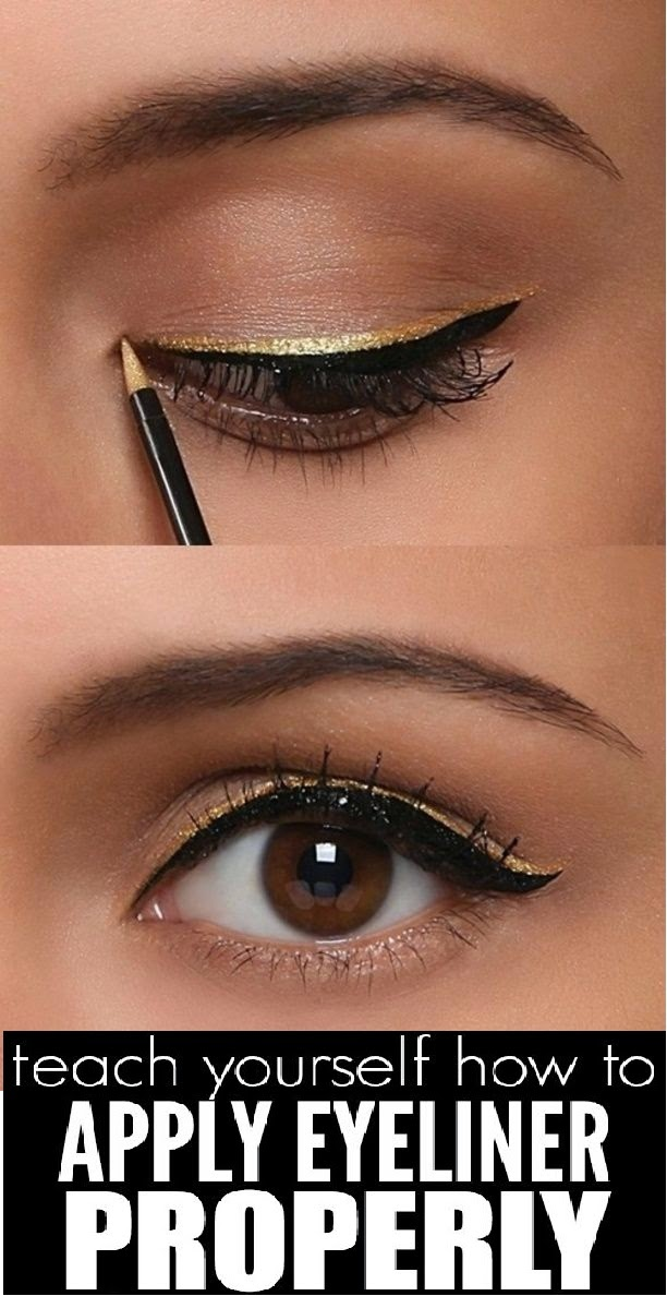 ideal fashion teach yourself how to apply eyeliner properly. Black Bedroom Furniture Sets. Home Design Ideas