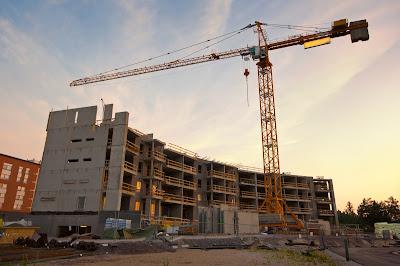 A large construction site.