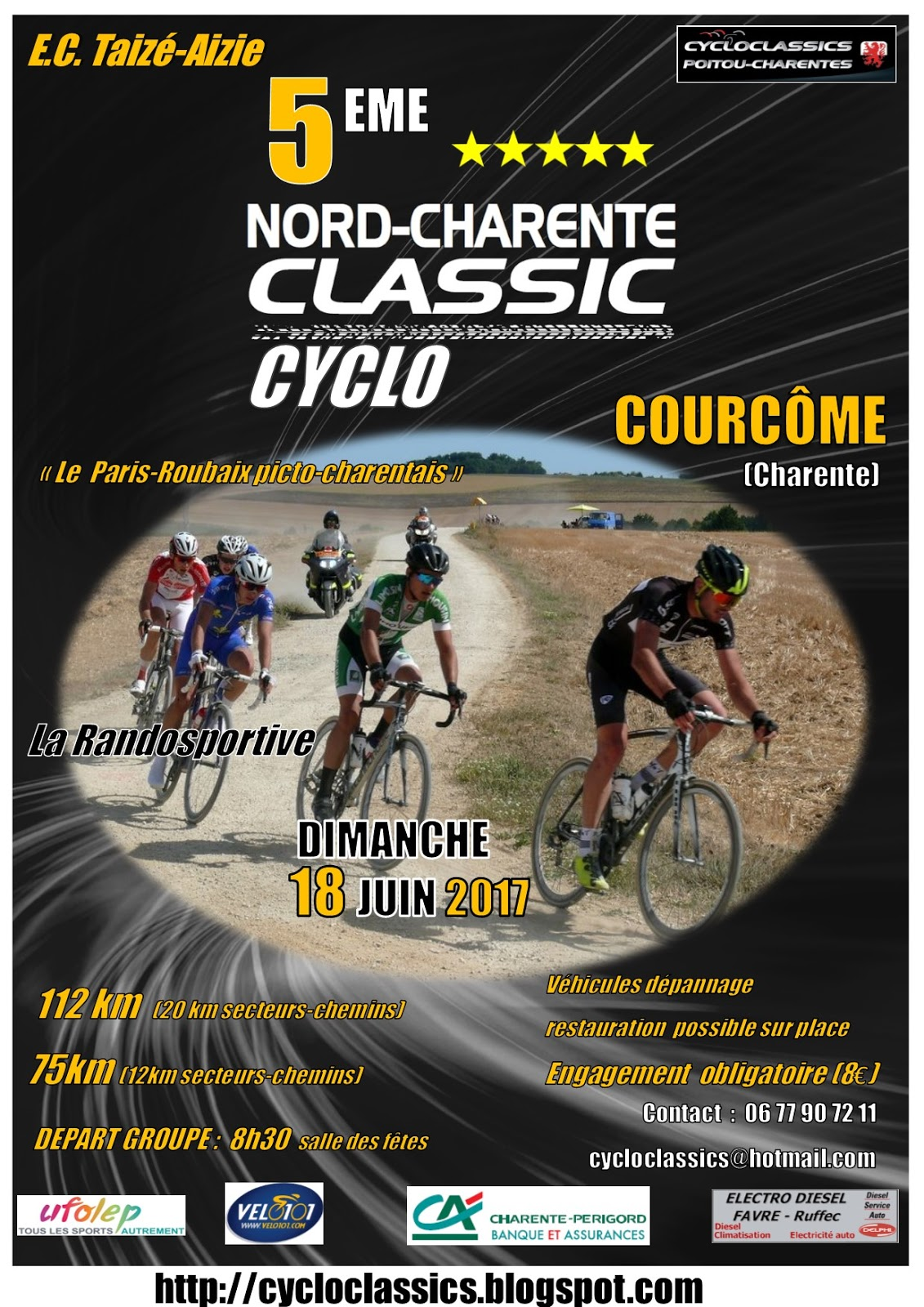 cycloclassics poitou charentes nord charente classic cyclo soyez l 39 appel du 18 juin. Black Bedroom Furniture Sets. Home Design Ideas