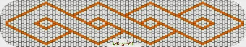 esquema pulsera brick stitch