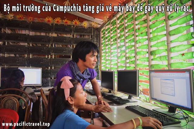 Bộ môi trường của Campuchia tăng giá vé máy bay để gây quỹ xử lý rác
