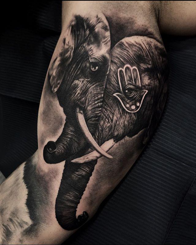 Imagen de un tatuaje de elefante original