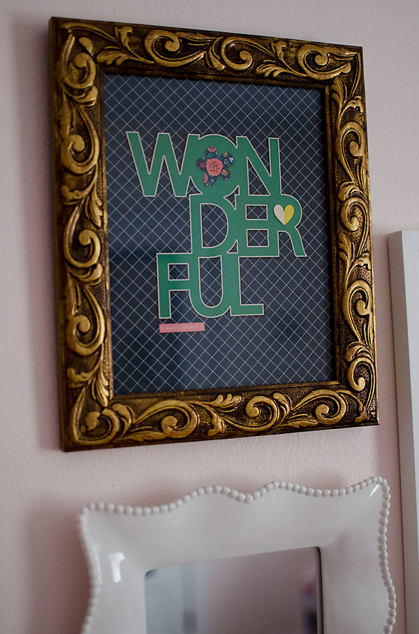Wonderful Framed Print using Cut Files for Scrapbooking