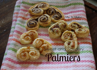 Mrs U Makes... Sweet and Savoury Palmiers @MrsUMakes #mymrsumakes