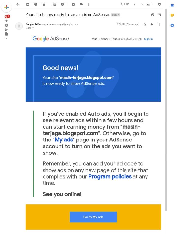 Cara Mudah Mendaftar Google AdSense Blogspot
