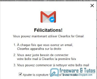 Cleanfox for Gmail : capture 1