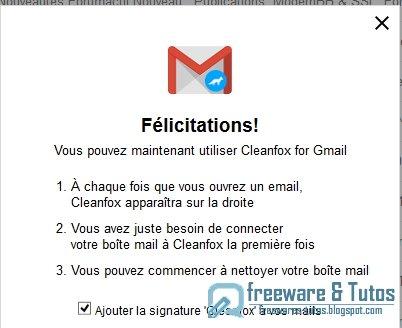 Cleanfox for Gmail : faites le ménage sur votre Gmail !