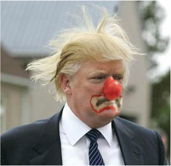 Image result for trump clown