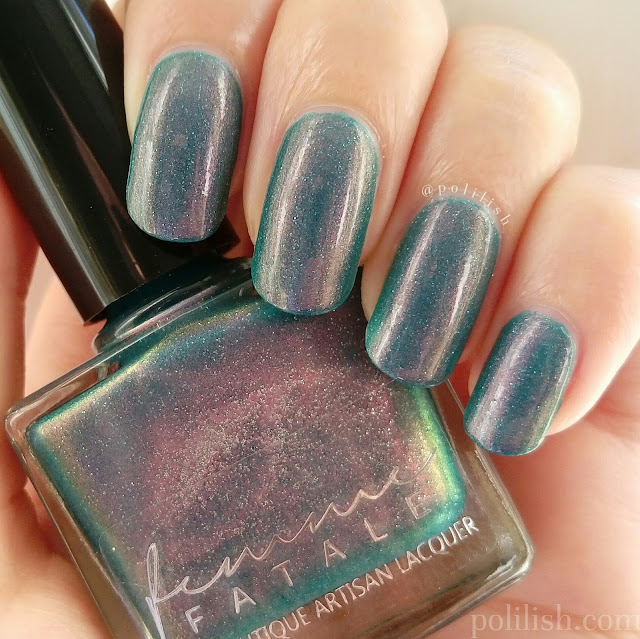 "Femme Fatale Cosmetics ""Poisoned Apple"", swatch by polilish"