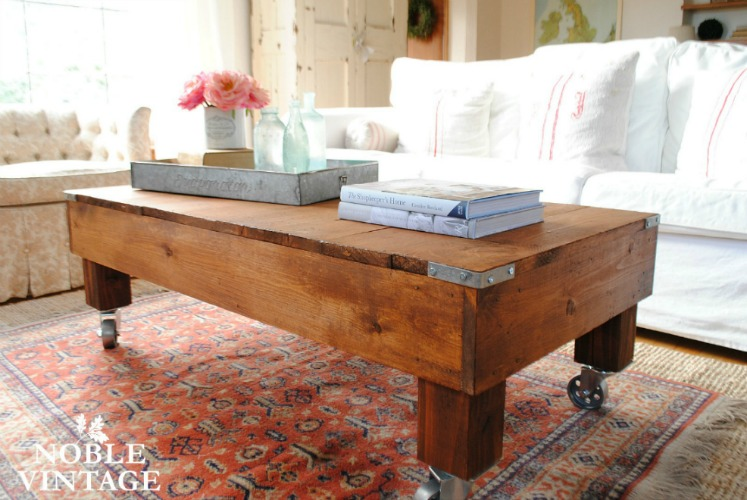 rustic industrial coffee table Noble Vintage