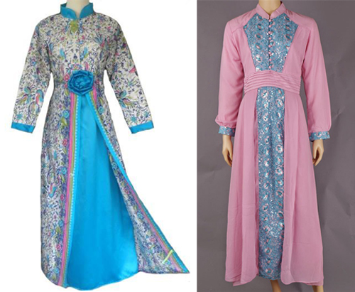 model baju gamis pesta dan lebaran