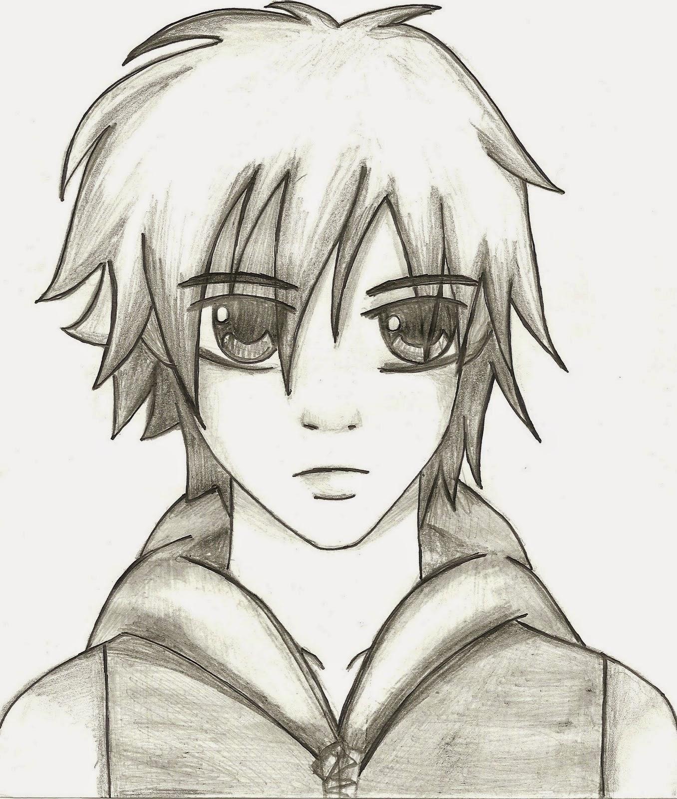 Tutorial Como Desenhar Manga Rosto Masculino Garoto Crianca