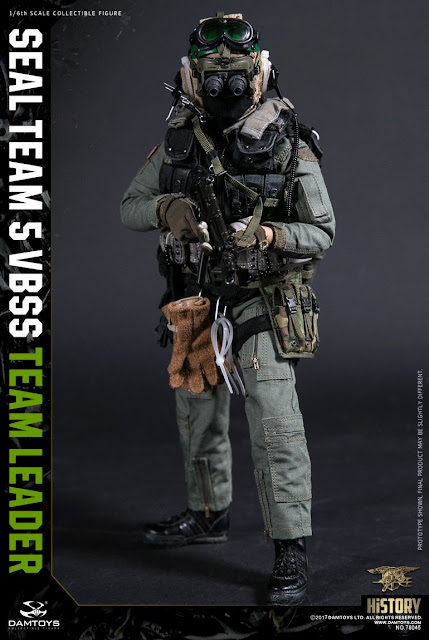 osw.zone Dam Toys 1 / 6. Skala Seal Team 5 VBSS Team Leader - 1990s Charlie Sheen Navy SEAL Figur