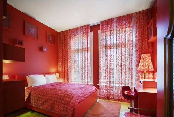Red Bedroom Design A Cool Decoration Idea