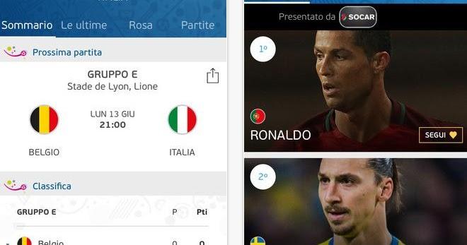 Siti e app per seguire euro 2016 in diretta su pc android for App per vedere telecamere su android