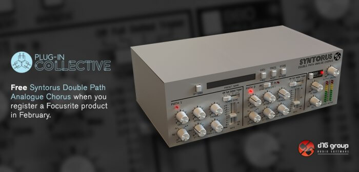 Focusrite Plug-in Collective February Offer: Free D16 Group Syntorus