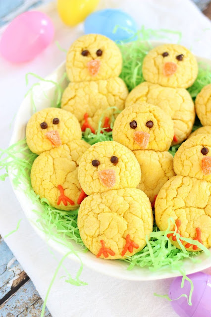Cake Mix recipes, Easter Chicks, Cookie recipes, spring recipes