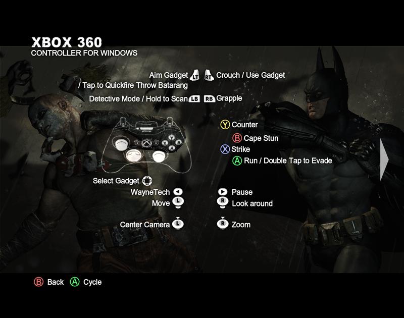 月下腦人惱腦: BATMAN Arkham City 使用 x360ce 搖桿模擬工具配置 MP8866 USB 橋接器