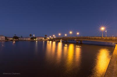 Copyright Vernon Chalmers: Main Bridge Before Sunrise - Woodbridge Island Cape Town