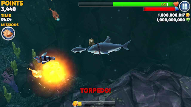hungry shark evolution tips dan trik