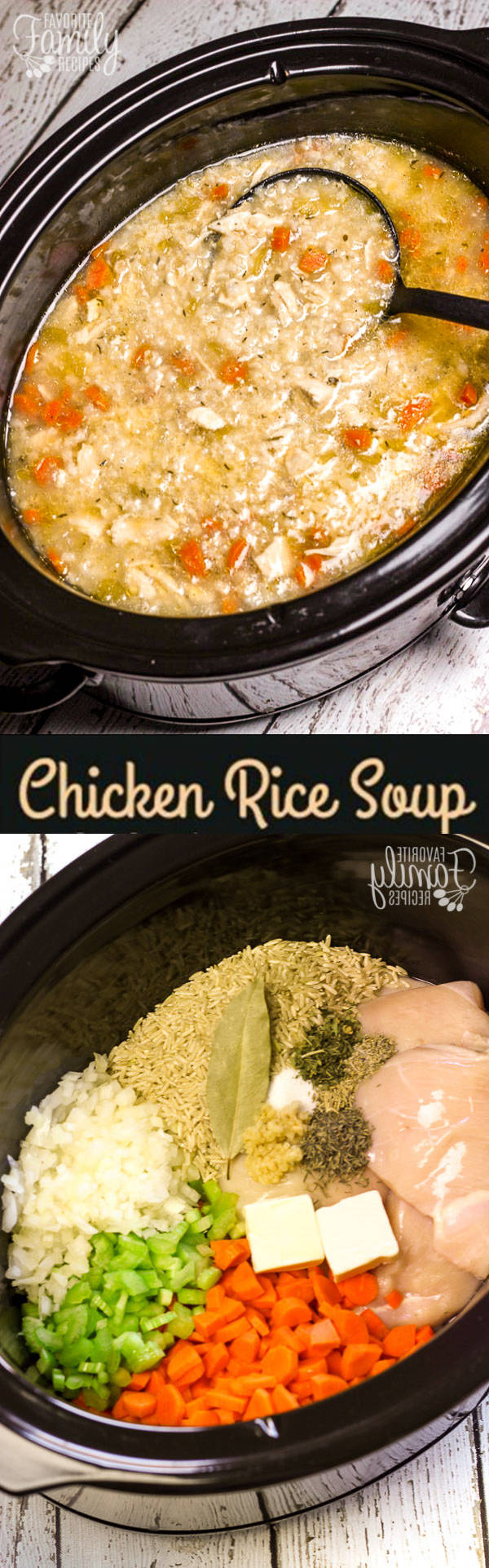 Slow Cooker Chicken Rice Soup