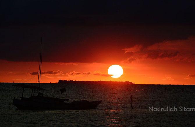 Sunset di Dermaga Mrican Kemujan, Karimunjawa