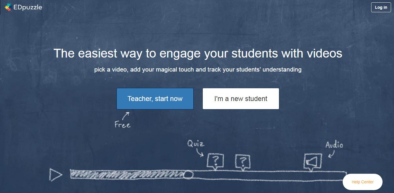 EDpuzzle 線上免費製作翻轉教學影片,可互動問答與重點複習