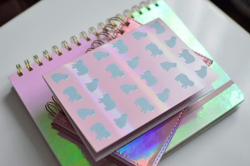 Pink Iridescent Stationery