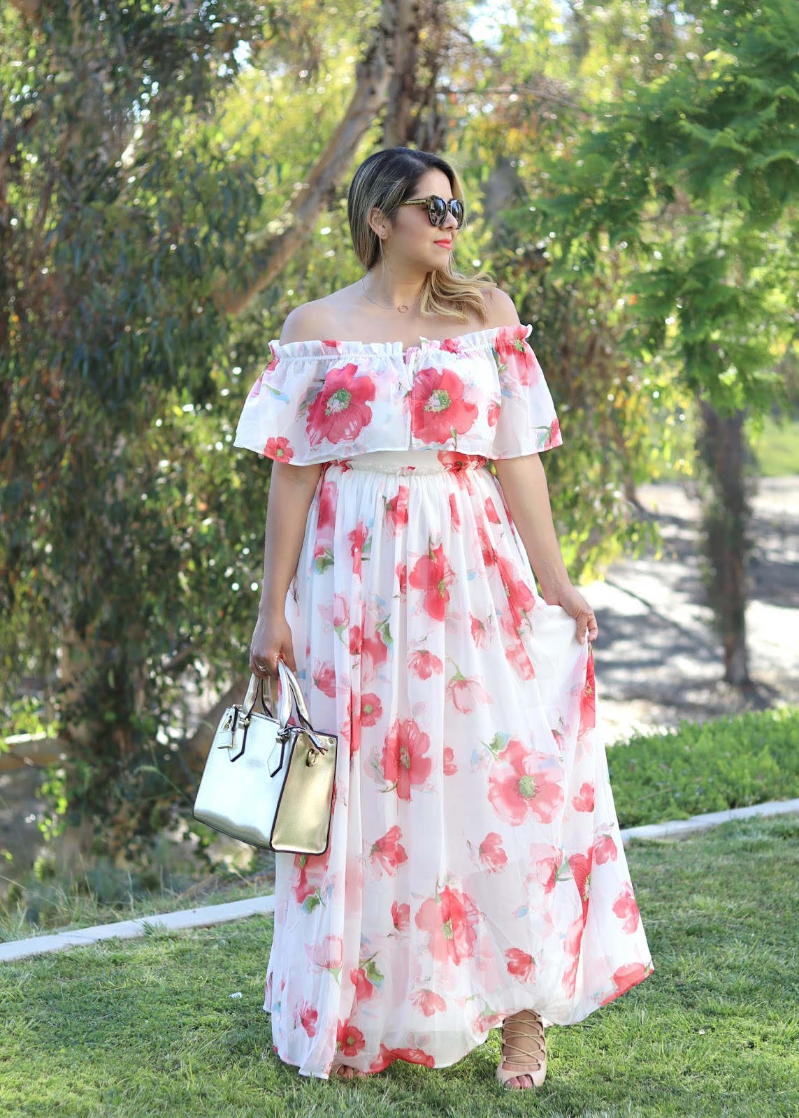 San Diego street style, what to wear in san diego, how to wear a flowy maxi dress, bohemian look