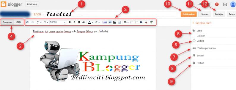 postingan di blogger