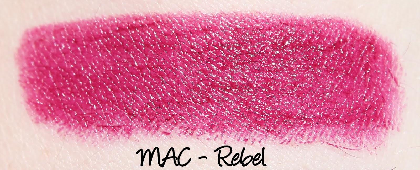 MAC Heirloom Mix Lipsticks - Rebel Swatches & Review