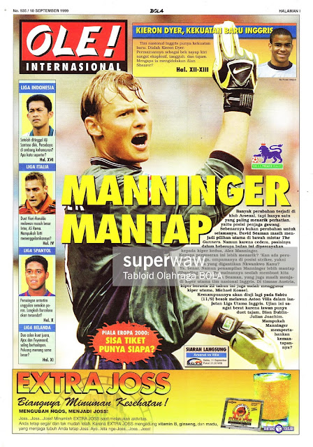 FOOTBALL NEWS 1999 MANNINGER