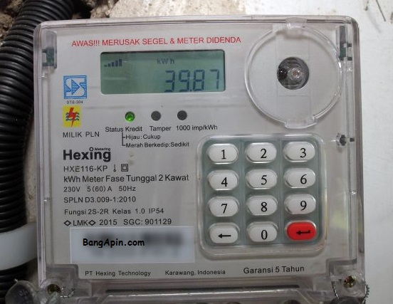 Cara setting alarm listik prabayar (pulsa listrik)