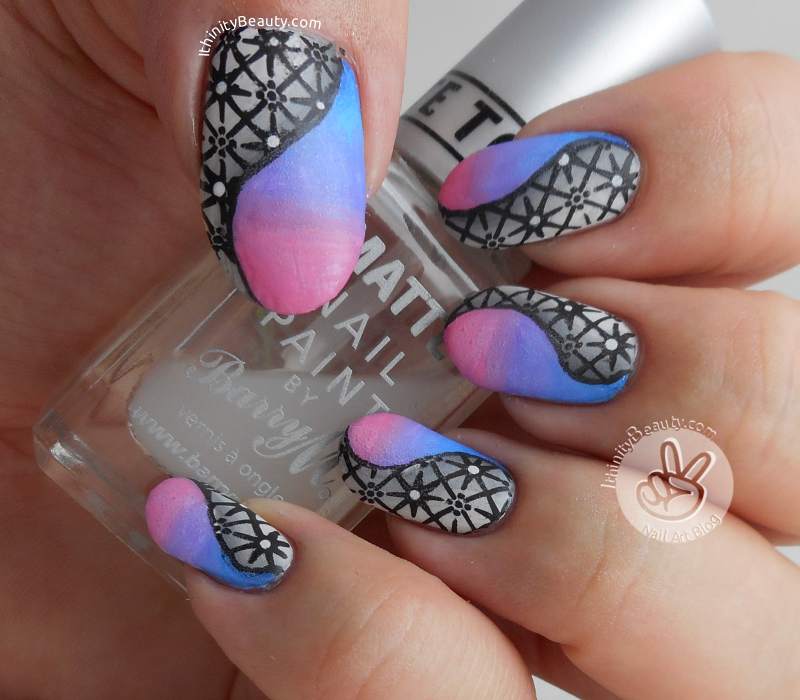 Stamped Shaded Nail Art With Acrylic-Gradient's ...